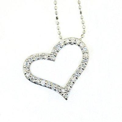 【JHT 金宏總珠寶/GIA鑽石專賣】0.32ct天然鑽石項鍊/材質:18k(JB41-A14)