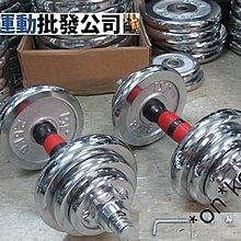 全新可調節重量 電鍍啞鈴 20kg家用健身器材(觀塘店自取價$278)