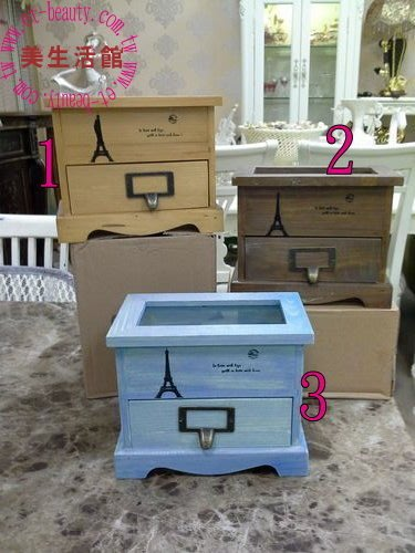 美生活館---全新 海洋風格 地中海風格 ZAKKA 雜貨 上掀 一抽 置物櫃 收納櫃 手飾櫃 --共三款可選