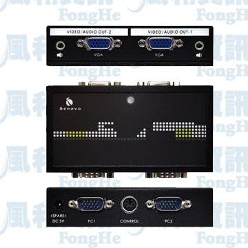 BENEVO UltraVideo BVAS212A 超高頻數位講桌用雙輸出VGA影音切換器【風和資訊小舖】
