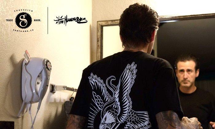 GOODFORIT/加州Suavecito Premium x Tim Hendricks T-Shirt老鷹聯名上衣