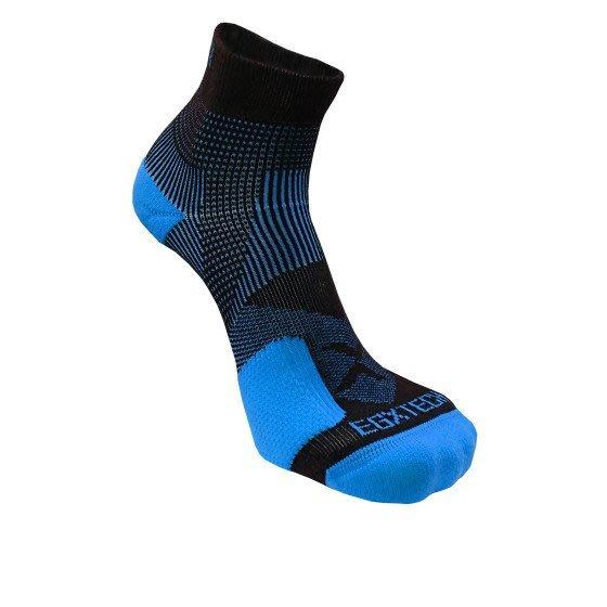 【EGXTech】 P82L側向保護8自繃帶運動襪 黑藍