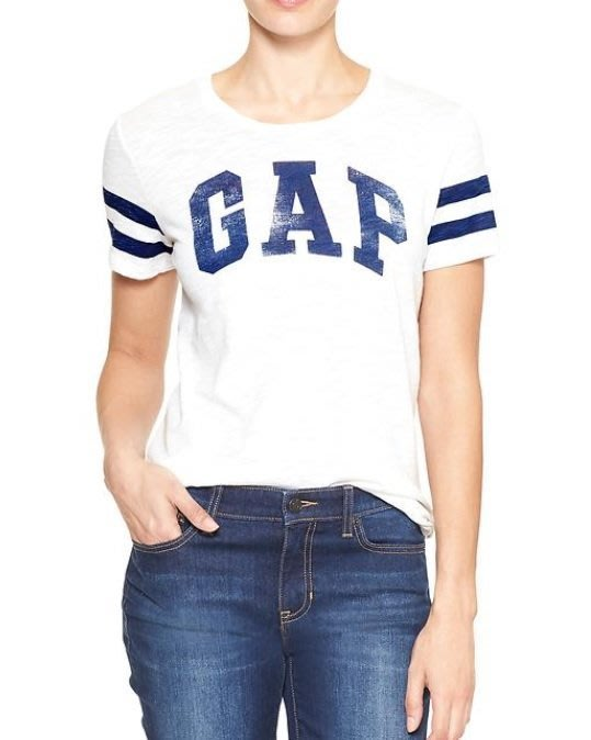 GAP 短袖 T恤  logo 標誌 白色 現貨 美國甜心屋