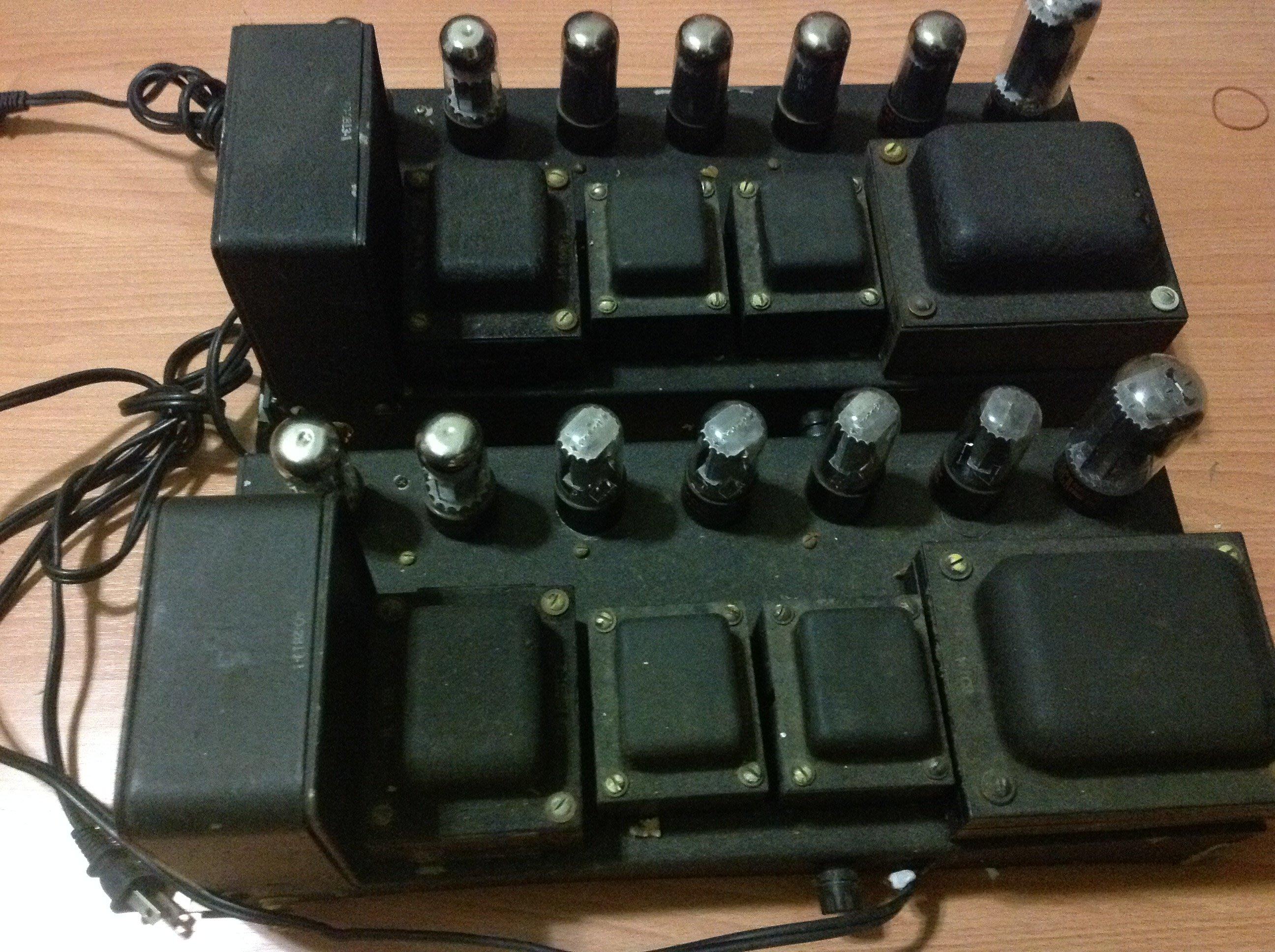 Jensen A12勵磁喇叭及擴大器(內建電源)一對 (4隻喇叭)
