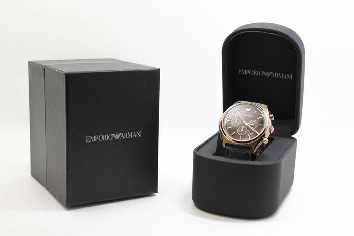 【高雄青蘋果3C】Emporio ARMANI 亞曼尼紳士風計時腕錶-咖啡x灰 44mm AR1976 #25394