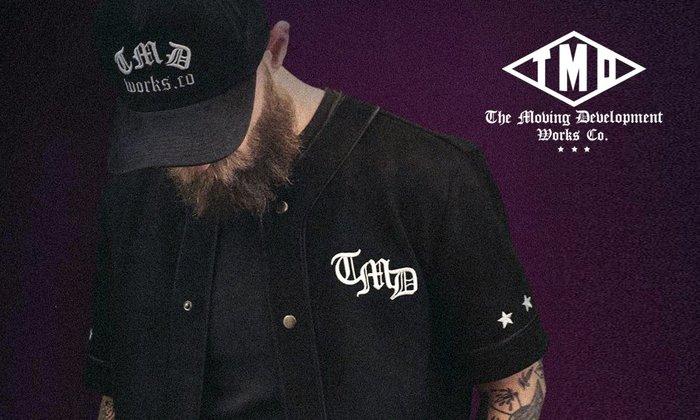 GOODFORIT / 英國品牌TMD Rah Rah Baseball Shirt夏季人造絲棒球杉