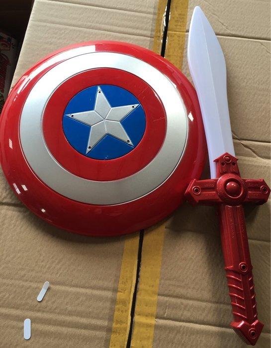 小猴子玩具鋪~角色扮演~復仇者聯盟 Marvel英雄 美國隊長 音樂 燈光 盾牌 光劍