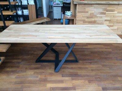 【緬甸柚木-TKWOOD】客製化鐵腳/桌腳/椅腳 - 星星造型