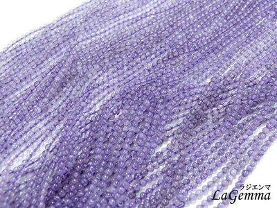 ☆寶峻晶石館☆單條特價200元~紫水晶DIY串珠,素材,自製手鍊/手珠/項鍊配件,珠子直徑3mm