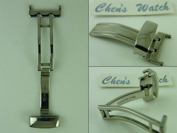 錶帶屋 各廠浪琴 Mido Oris Tissot皮帶錶均可用之折疊扣非蝴蝶扣有 16mm 18mm 20mm 22mm