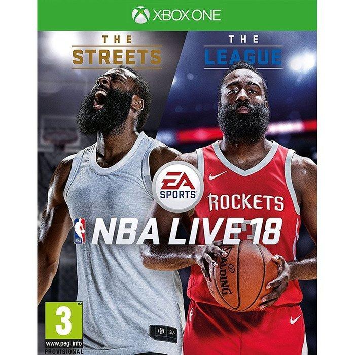 全新未拆 XBOX ONE NBA LIVE 18 勁爆美國職籃 2018 -英文版- X1 籃球