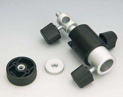 呈現攝影-離機閃超值 組合2-小型傘座x1+33吋透射反射兩用柔光傘 x1+小燈腳架可200cm高x1