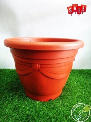 【加點綠】『優惠價』購買10個泯元 尺3歐洲盆 ( 磚紅 )