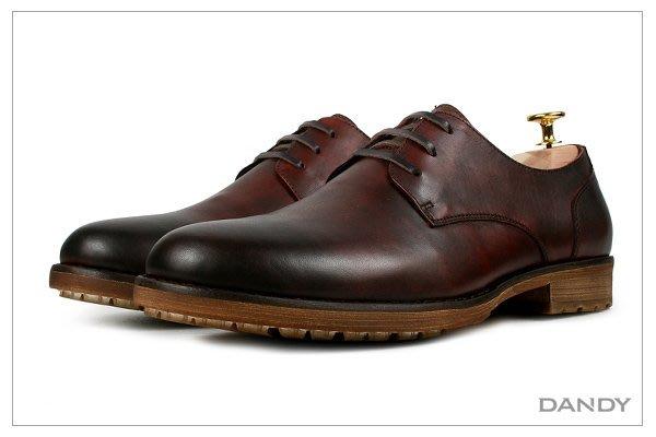 ├ DANDY ┤真皮燻舊紳士皮鞋 ‧ 2018新款手染古著紅色RX-51i