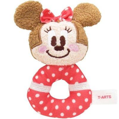 尼德斯Nydus 日本正版 迪士尼 米妮 Minne 嬰兒玩具 嬰兒用品 絨毛玩偶 手搖鈴鐺