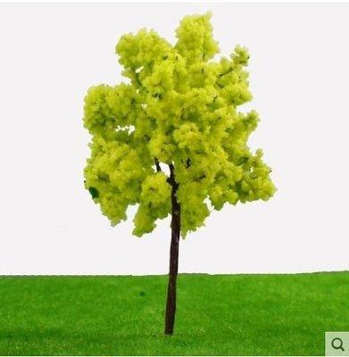【微景小舖】黃綠色模型樹(單入)DIY建築沙盤建築模型材料 場景製作模型樹 建築模型材料 沙盤模型 鐵絲樹  配景樹