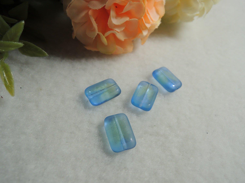 手創材料~0050~美國進口12mm板塊珠-海洋之心 透明藍綠感 手工 適做手環.項鍊.耳環質感佳