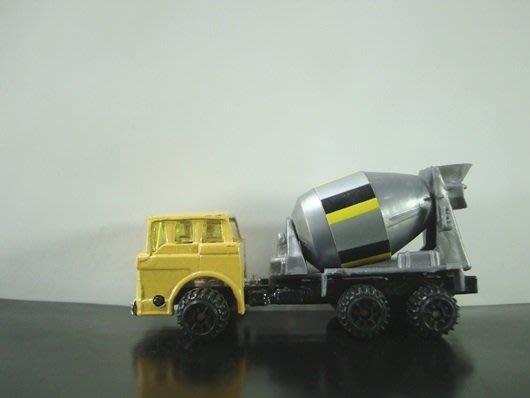 傳奇車庫-MOTORMAX 早期絕版車款 水泥車 混凝土車 工程車 滾筒可動 水泥預拌車
