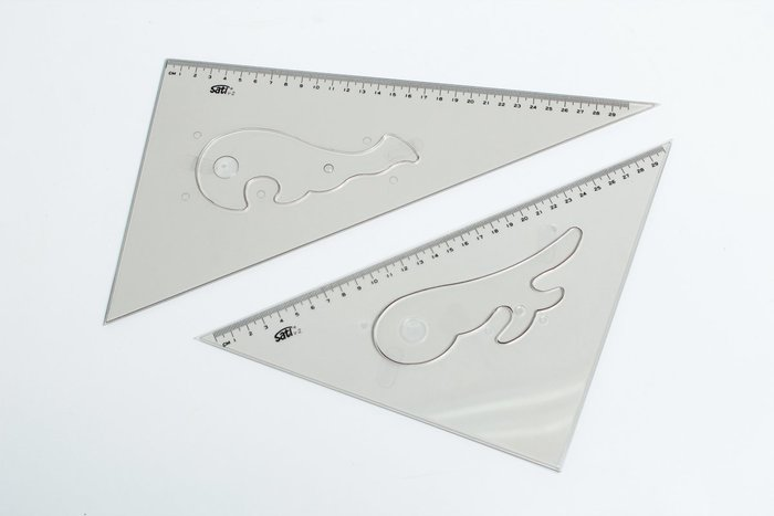 【Artshop美術用品】Sati 雲形板+三角板 (30cm) 4入