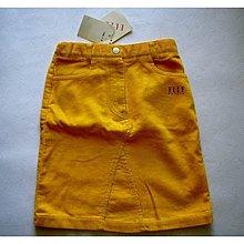 專櫃  ELLE  女童黃色絨布裙 編號10028 ~110CM