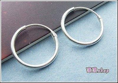 *。漾漾小舖*。 1.0cm基本款圓圈針式耳環.925純銀【C105】☆防過敏