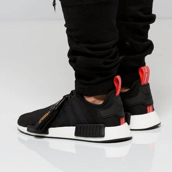 【Luxury】ADIDAS ORIGINALS NMD R1 黑紅 正品代購 網布 男款慢跑鞋 透氣 BOOST 輕量