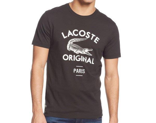 REISEN:US.2014最新款!全新真品有購買證明 LACOSTE 經典款 復古大鱷魚商標 LOGO 短袖T-SHIRT