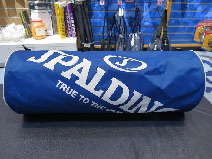 【iSport愛運動】♤ SPALDING ♤ 斯伯丁 全新公司現貨 三顆裝籃球提袋  SPB5314N65 藍色