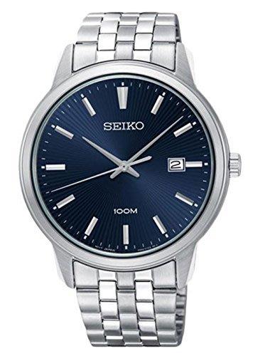 【金台鐘錶】SEIKO精工 時尚鋼帶 防水100米 男錶(藍) SUR259P1