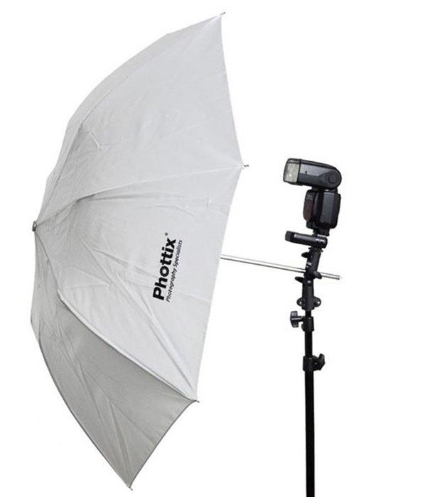 呈現攝影-Phottix 折疊柔光白傘 91cm 36吋 反射/直打2用 外白內銀白 柔光傘 控光傘 控光設備 離機閃