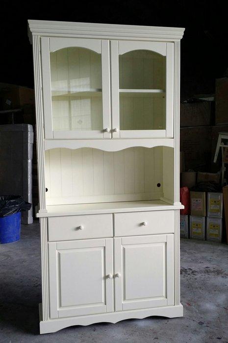 美生活館 鄉村家具訂製 客製化 紐松全實象牙白 餐櫃 收納櫃 碗盤櫃 置物櫃 玄關櫃隔間 也可修改尺寸顏色再報價