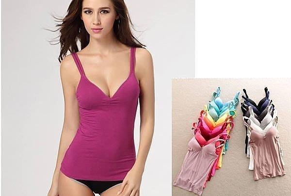 晶華屋--今夏最爆款 寬版莫代爾帶吊帶背心 無鋼圈無痕內衣 /背心