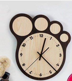 【伊人閣】創意時尚個性田園客廳靜音掛鐘 卡通可愛兒童時鐘掛表簡約大壁鐘