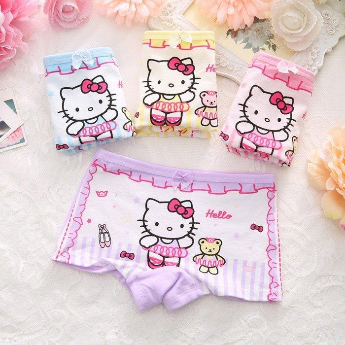 【現貨】兒童內褲 女童內褲 純棉 女童平角褲 凱蒂貓與小熊款 [ MACHI SHOP ]