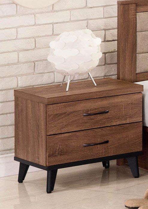 【DH】貨號BC013-3商品名稱《得納麥》51.5CM二抽床頭櫃(圖一)木心板.台灣製.質感一流˙簡約設計˙新品特價