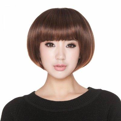 水媚兒假髮7M057♥新款女士假髮 甜美蘑菇 齊瀏海鮑伯頭♥ 現貨或預購 團購批發