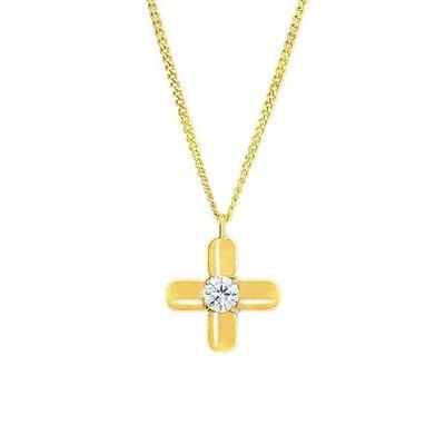 【JHT 金宏總珠寶/GIA鑽石專賣】0.351ct天然十字架鑽石項鍊/材質:18K(JB38-C03)