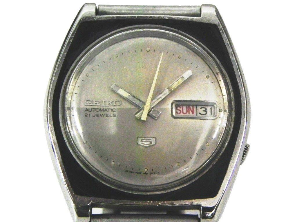 [專業模型] 機械錶 [SEIKO 851961] 精工5號[21石]機械錶[銀色面]/時尚/中性/軍錶
