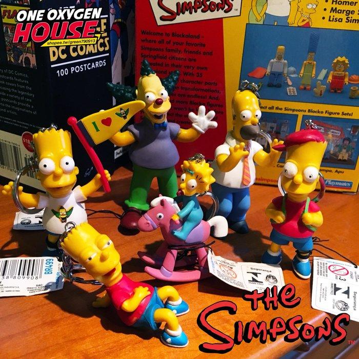 2007年 FOX The Simpsons 辛普森家庭 荷馬 小丑 奶嘴 辛普森 霸子 玩具 公仔 擺件 鑰匙圈 吊飾