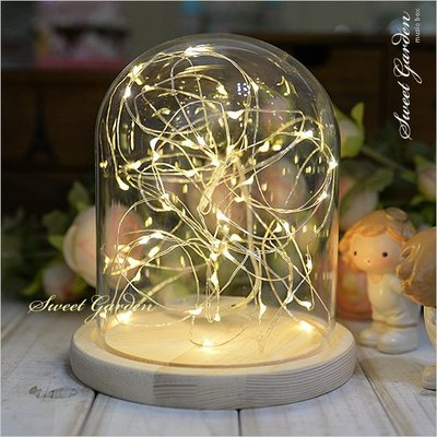 Sweet Garden, 5米50燈 LED銀線燈串 暖白光迷你燈珠 可簡易塑形 電池盒開關送電池 DIY火樹銀花禮物