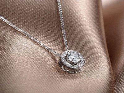 EOS 時尚精品(直購價再享折扣)  頂尖歐美設計師款925純銀CZ鑽石項鍊  耳環手鍊對戒鑽戒婚戒 流行 鑽鍊新款促銷