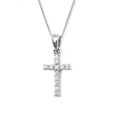 【JHT 金宏總珠寶/GIA鑽石專賣】0.15ct天然十字架鑽墜/材質18K(D000005)