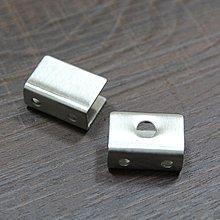小型  不鏽鋼 玻璃夾具 不銹鋼 玻璃平台 固定夾 層板夾 砂光 2入