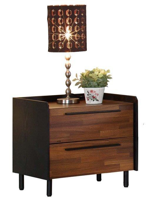 【DH】商品貨號N522-3商品名稱《卡梭》50CM雙抽雙色床頭櫃(圖一)木心板。台灣製可訂做。主要地區免運費