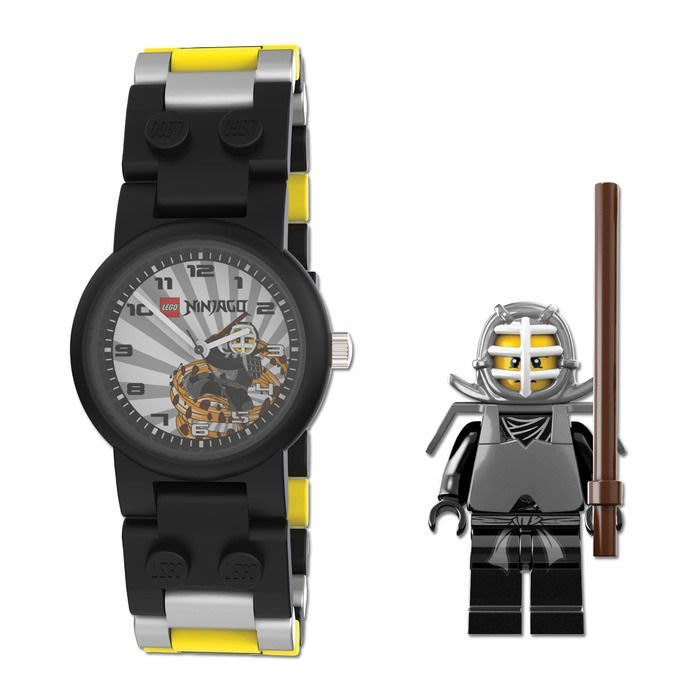 絕版品現貨【LEGO 樂高】全新現貨/ 劍道黑忍者手錶 旋風忍者 Kendo Cole 人偶手錶 公仔 含原廠盒