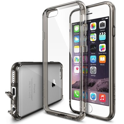 【Rearth】Ringke Fusion 透殼背蓋 iPhone6 Plus / 6S Plus - 煙燻黑