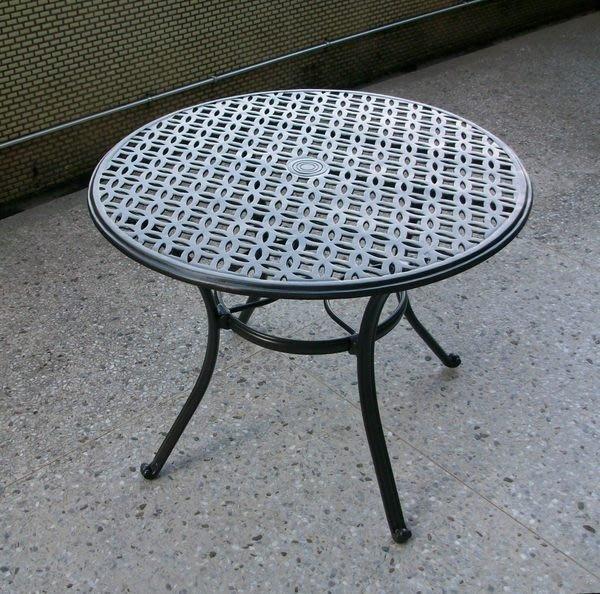 兄弟牌90cm鋁合金圓型庭院桌~鋁合金材質堅固耐用~歐式風情美觀大方~直購免運費!!