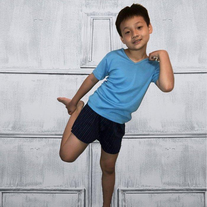 MORINO 時尚機能~童裝【MORINO】純棉~兒童耐用織帶格紋平口褲/四角褲/家居褲(超值4件組)免運