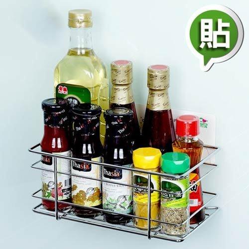 金德恩 台灣製造 瓶罐置物架 免釘免鑽 無痕掛勾系列