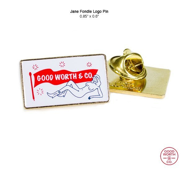 "GOODFORIT / 美國飾品專門品牌Good Worth Jane Fondle復古女郎別針(0.85""x0.6"")"